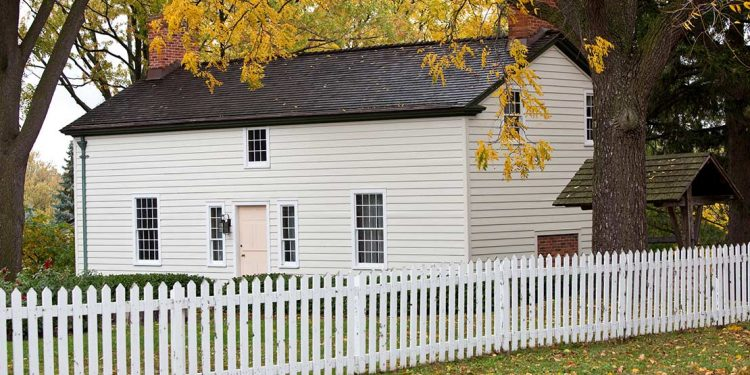 White colonial house
