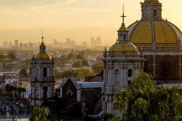Basilica overlooking city