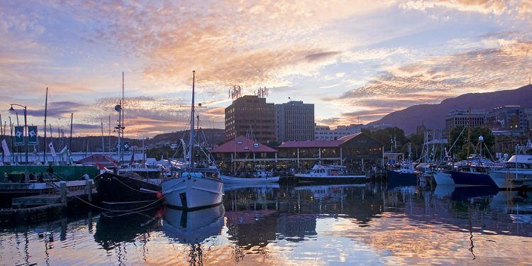 Port in Hobart, Tasmania