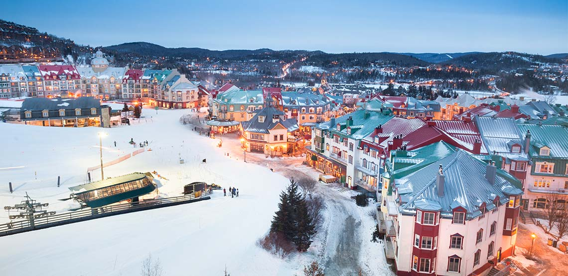 Tremblant village in the winter