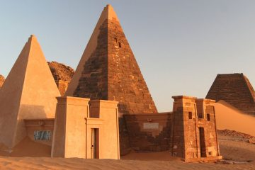 pyramids of Meroe in Sudan