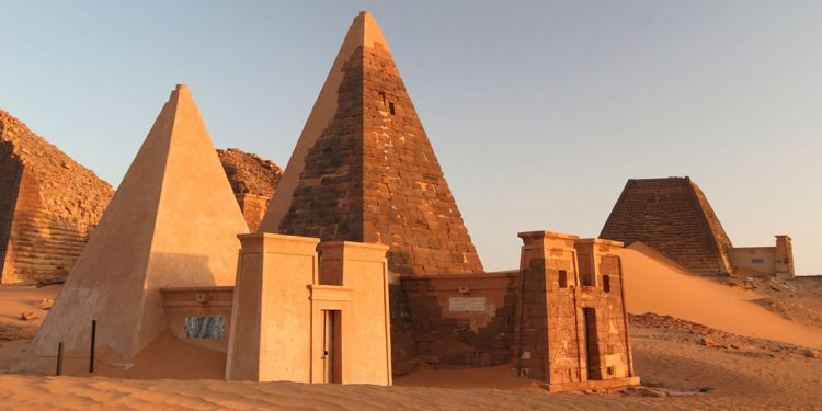 pyramids of Meroe in Sudan