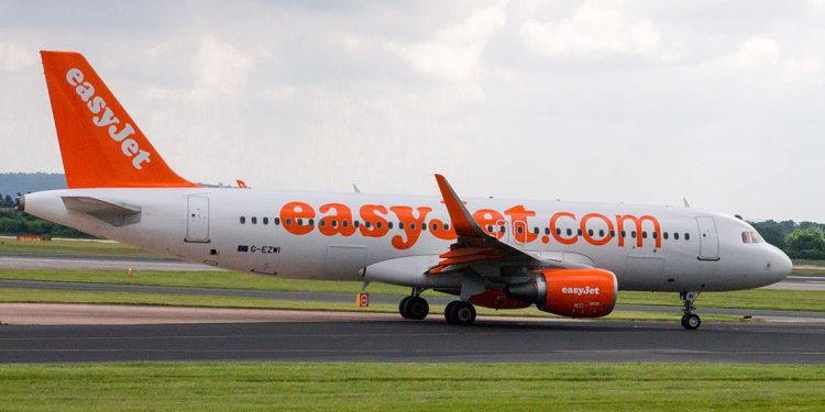 EasyJet plane on an airport runway