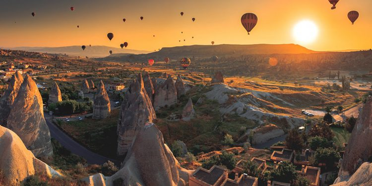Cappadoccia with hot air balloons