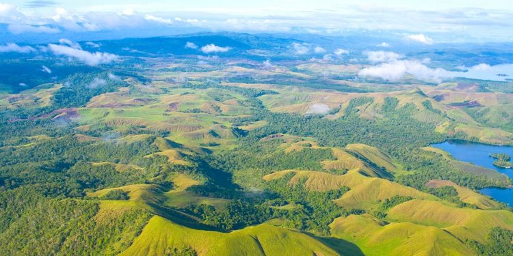 aerial view of Papua New Guinea