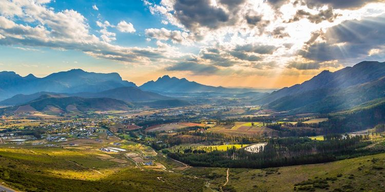 expansive landscape in South Africa