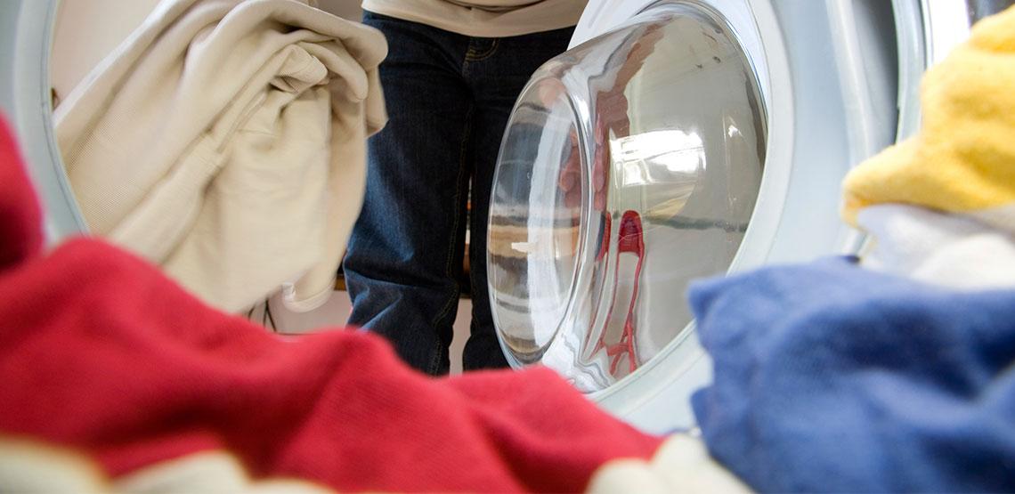 laundry inside a washing machine
