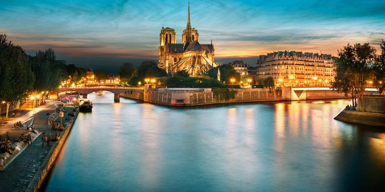 Seine River with Notre Dame in background