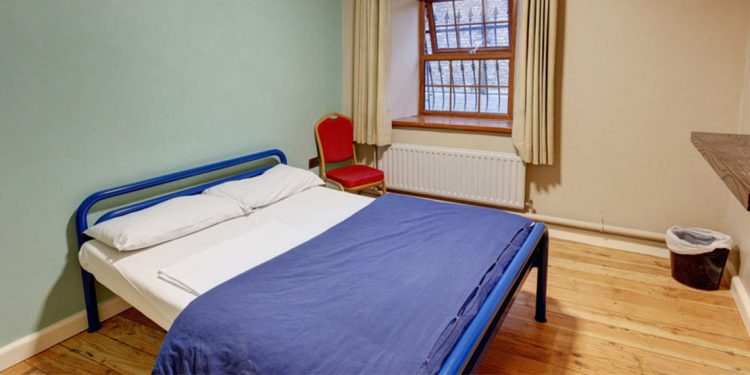 Inside a private hostel room in Isaacs Hostel in Dublin