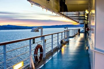 view off a cruise ship
