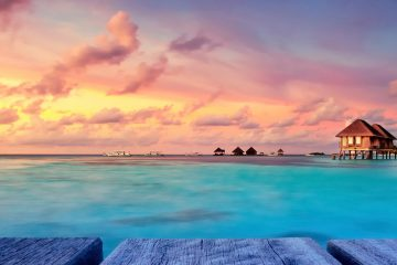 raised beach houses of the maldives