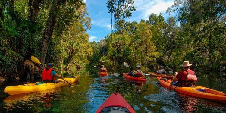 river kayakers