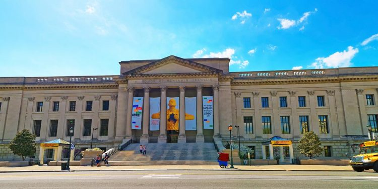 front of the franklin institute