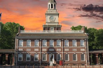 front of the independence hall