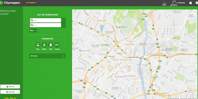 desktop screenshot from Citymapper