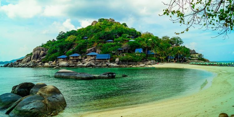 town of koh tao, thailand overlooking turquoise waters