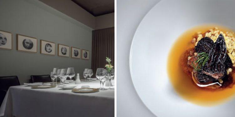 dining room of restaurant osteria francescana in modena italy