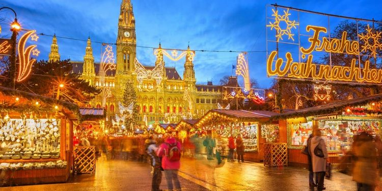 winter market in vienna, austria