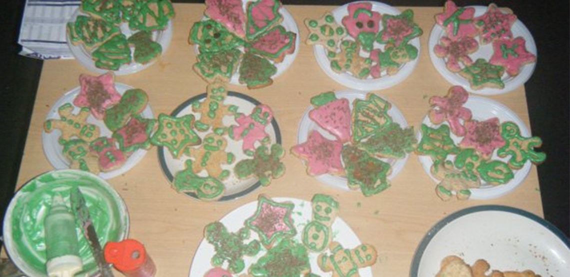 Finished Christmas cookies