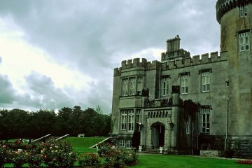 Outside Dromoland Castle on a cloudy day