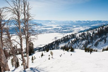 Ski hills at Jackson Hole, Wyoming