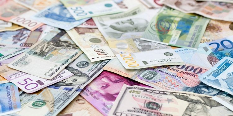 Paper money in various currencies