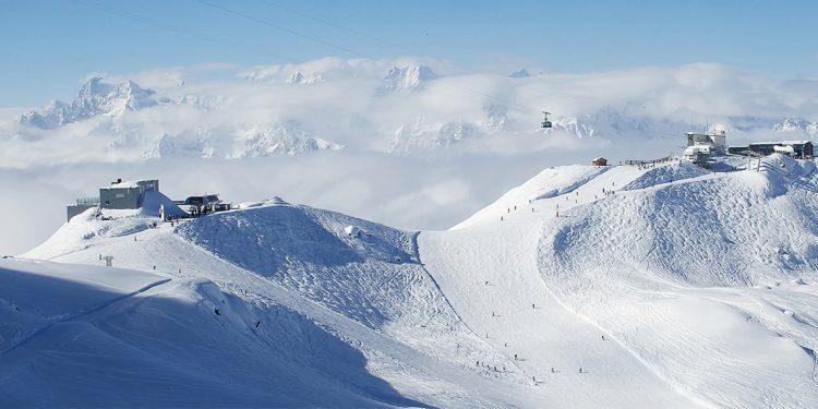 Ski hill at Verbier, Switzerland