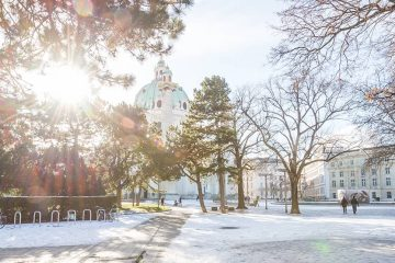 A sunny, snowy day in Vienna