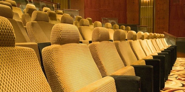 Seats in a movie theatre