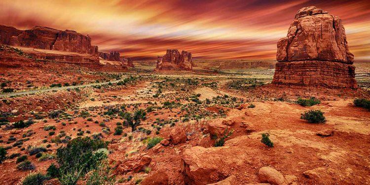 Desert with rocks