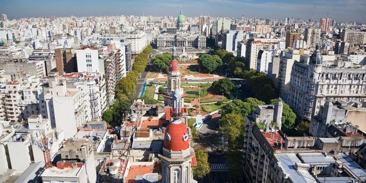The city landscape of Buenos Aires, Argentina during the day