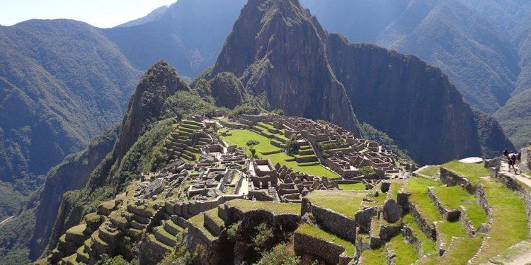 Aerial landscape photo of Machu Picchu in Peru