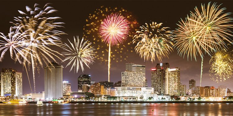 Fireworks over New Orleans