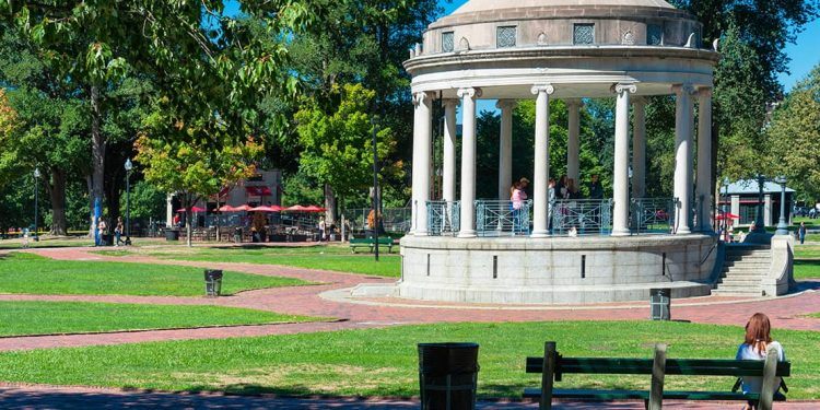 The Parkman Bandstand in Boston Common.