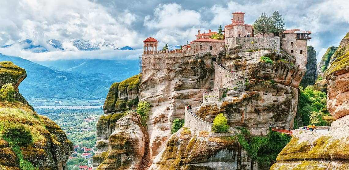 Historic cliff-top monastery in Meteora