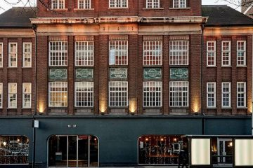The exterior of Green Rooms Hotel in London.