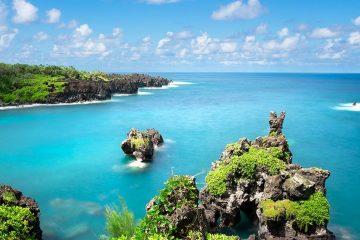 green landscape of Maui Hawaii