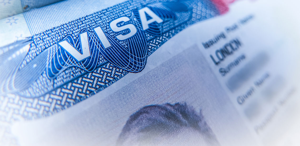 "Piece of paper with the word ""Visa"" on it"