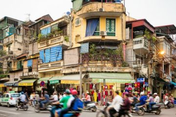 Busy Streets in Hanoi Old City