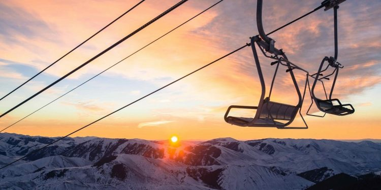 Chairlift Sunrise at Sun Valley, Idaho