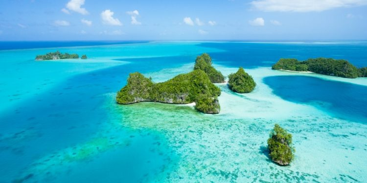 Palau, Micronesia from above