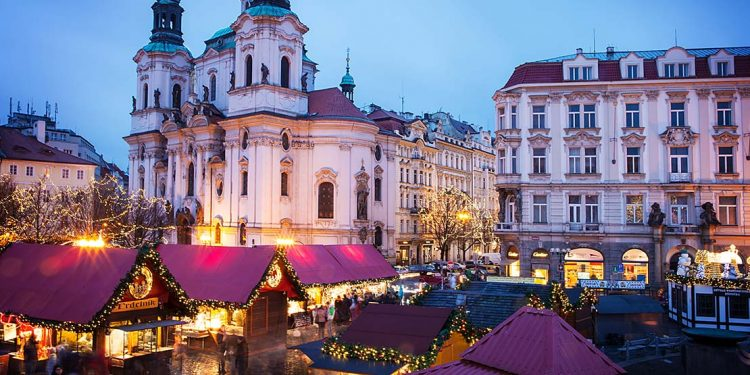 Christmas market in Prague.