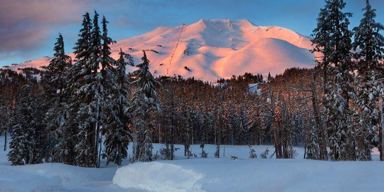 Morning light on mountain