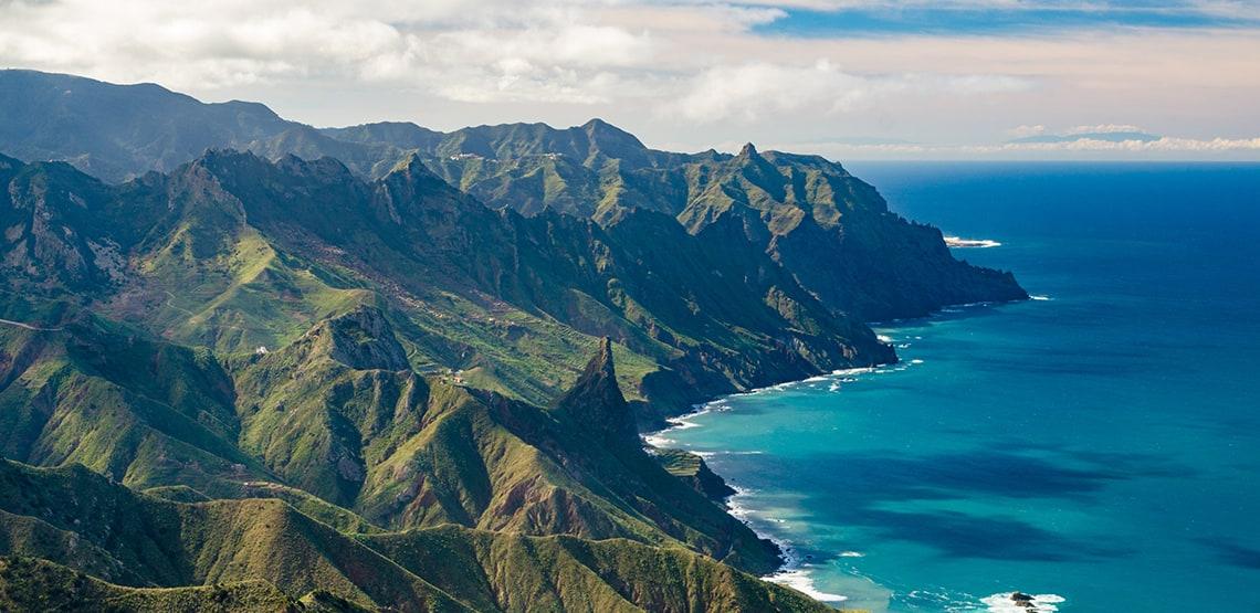 Mountains along the coast, Tenerife