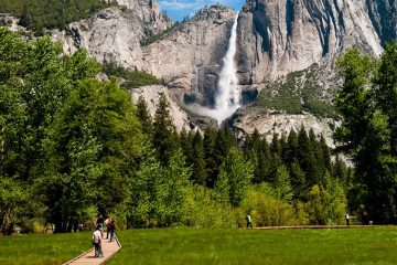 Boardwalk trail to Yosemite Falls.