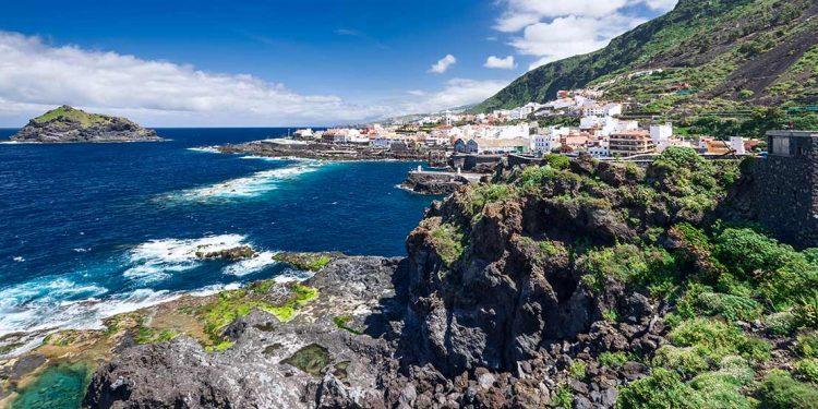 View of Garachico in Tenerife