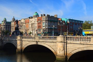 O'Connell Bridge in Dublin, Ireland