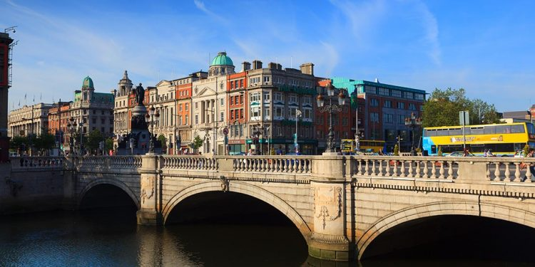 O'Connell Bridge in Dublin, Ireland