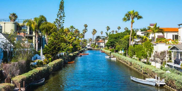Canal through Venice in Los Angeles