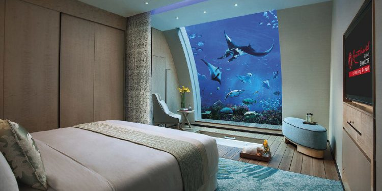 A beach suite at resort world Singapore